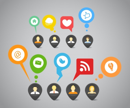 Social media network abstract speech bubbles Vector
