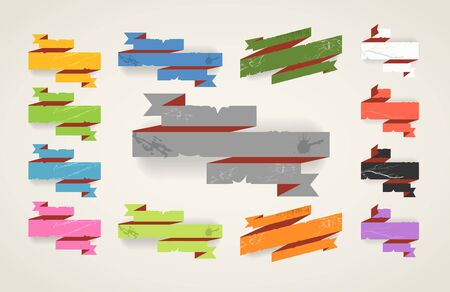 Colorful polygonal origami folded vintage banners  Place your text here Vector