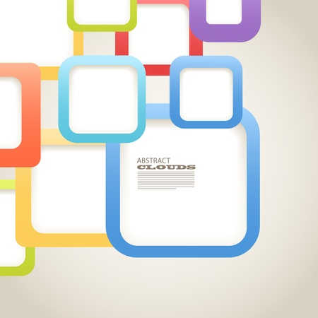 Abstract Background of color boxes with blank area for any content Vector