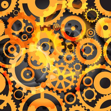 Background or different gear wheels Vector