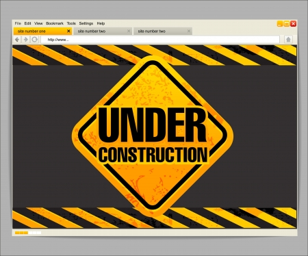 Under construction site template Stock Vector - 14608935