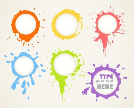 splash paint: De l'encre couleur efface les nuages ??de la parole