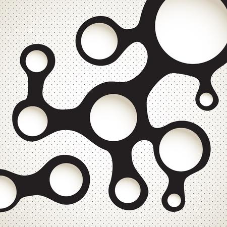 Abstract blot scheme  Template for a text Stock Vector - 14813834