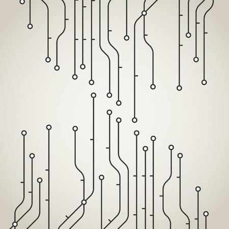 railway points: Abstract metro scheme background Illustration