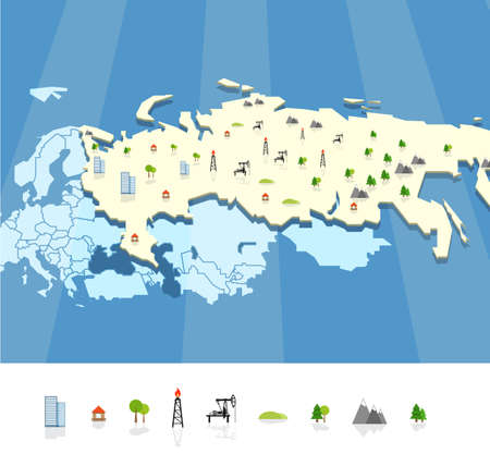 resourse: Resourse map template Illustration