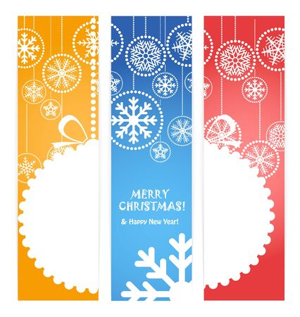 Set of vertical christmas vector banners  Ready for a text Vector