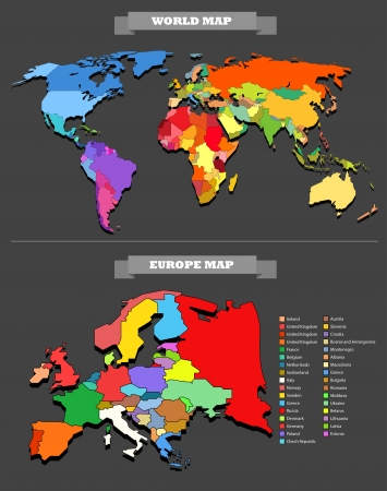 World map template  Every country is selectable Vector