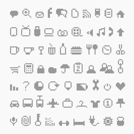 multimedia pictogram: Pixel icons