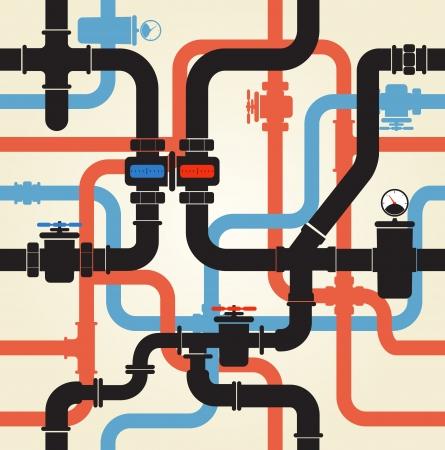 Fondo inconsútil de la tubería de agua