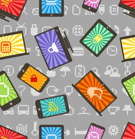 Abstract style modern gadgets seamless pattern Stock Vector - 15059590