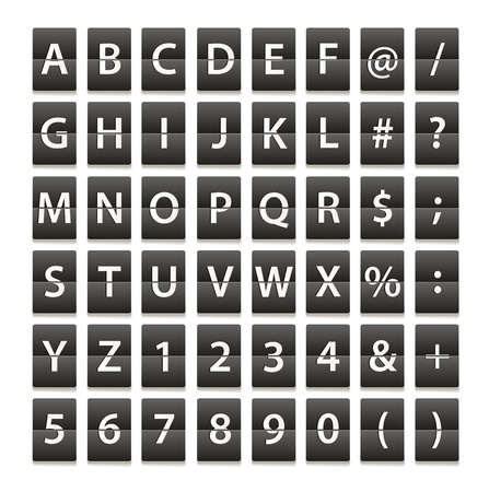 Alphabet and digits isolated on white Stock Vector - 15118441