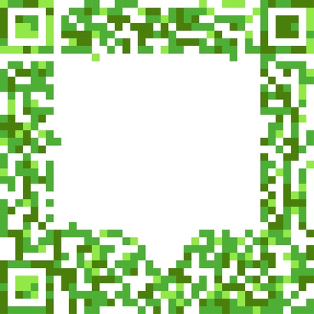 qrcode: Abstract speech cloud of qr-code