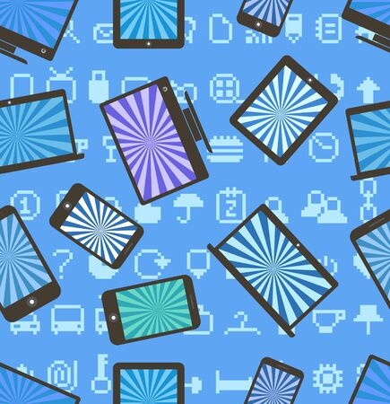Abstract style modern gadgets seamless pattern Stock Vector - 15118438