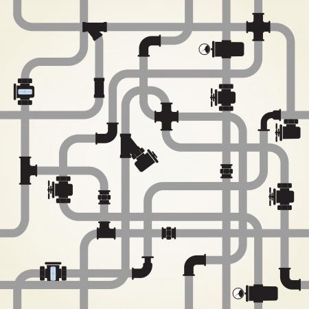 tuberias de agua: Fondo incons�til de la tuber�a de agua