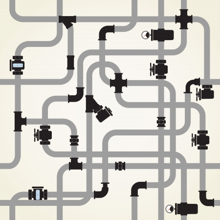 conduit: Seamless background of water pipeline