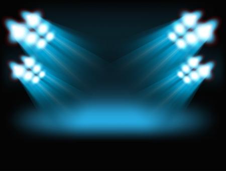 Bright spots Sjabloon voor een inhoud Vector Illustratie