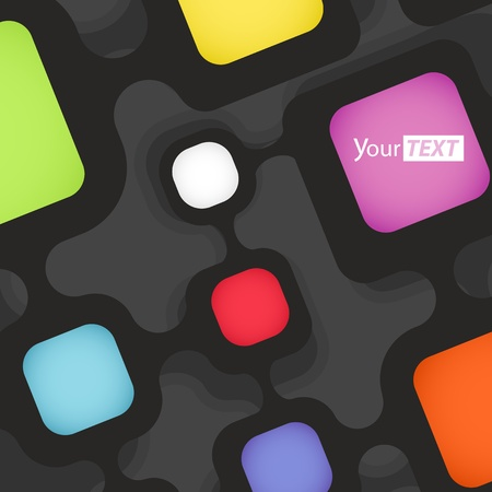 connection block: Abstract background of color boxes  Template for a text