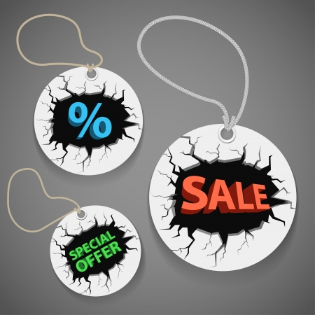 Discount shopping tags set Stock Vector - 15258522