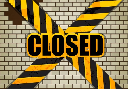 Brick wall  Closed Stock Vector - 15314957