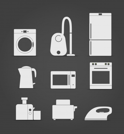 juice extractor: Device pictograms Illustration
