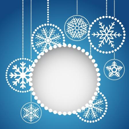 Tóm tắt bóng Giáng sinh với trang trí những bông tuyết Hình minh hoạ
