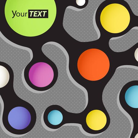 Abstract scheme with color circles  Template for a text Vector