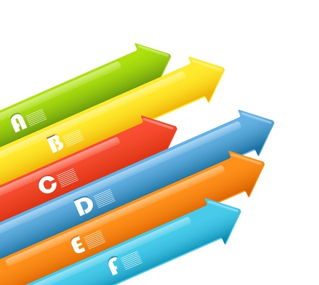 Abstract information arrow banners  Vector