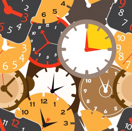 Seamless pattern of different clocks  Stock Vector - 15520104