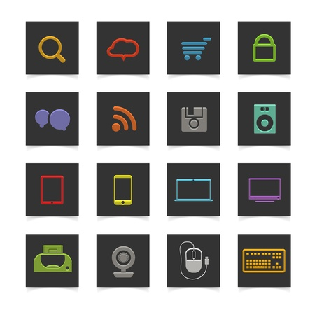 activity icon: Abstract scheme of social media network Illustration