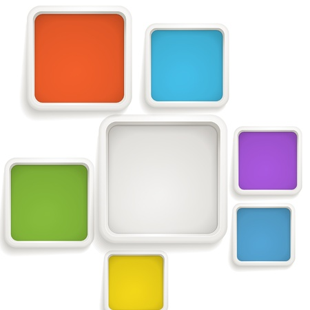 Abstract background of color boxes. Template for a text Vector