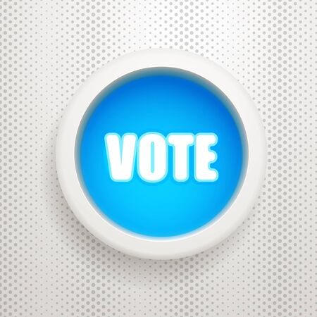 Blue button: Vote Stock Vector - 15611287