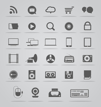 Modern Social media icons collection  Vector