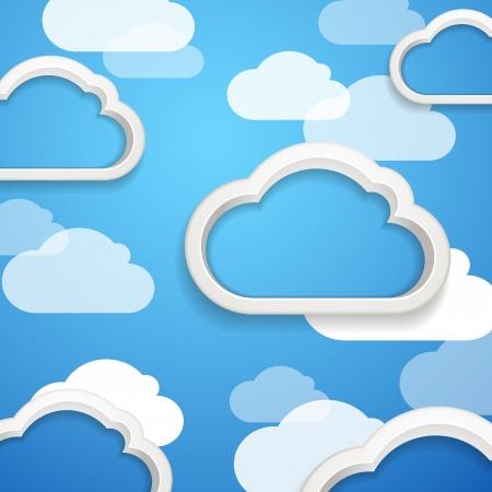 Clouds on the sky Stock Vector - 15660864