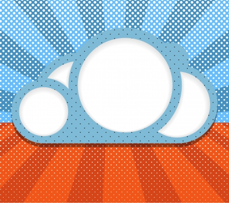 Abstract clouds  Template for a text Vector