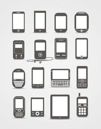 iconos: Estilo Abstracto móviles aparatos modernos y de época