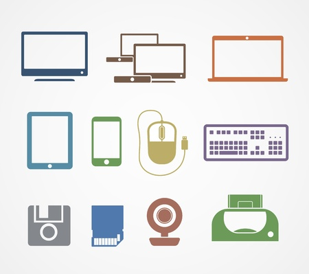 computer monitor: Digital stuff icons