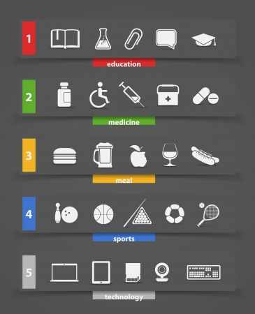 Different icons clip art Vector
