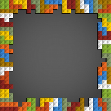 tetris: Abstract frame background of color blocks