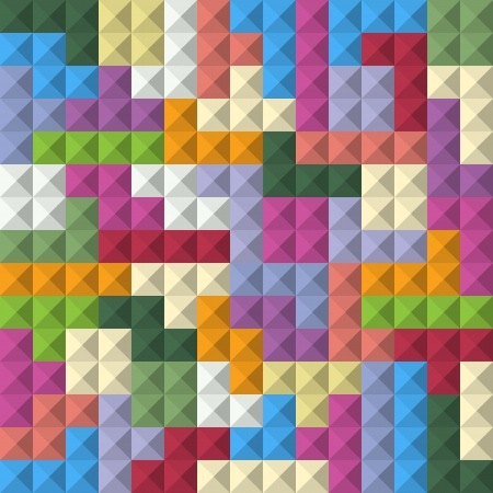 Abstract seamless background of color blocks Vector