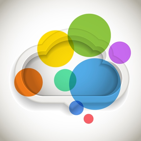 Abstract speech cloud with color circles Stock Vector - 16053066