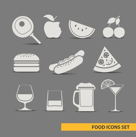 foos icons set Vector