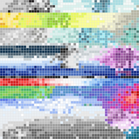 Abstract pixel art color background Stock Vector - 16053080