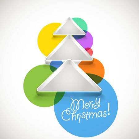 Abstract Christmas tree of color baubles Illustration