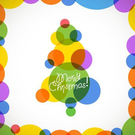 Résumé arbre de Noël des boules de couleurs