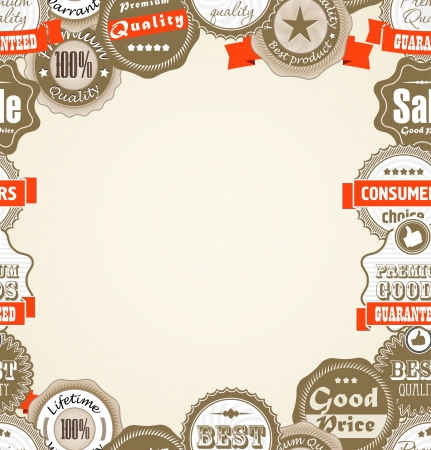 Shopping Premium quality labels  Stock Vector - 16176594