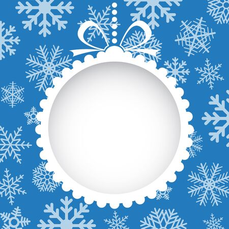 Christmas greeting card with white christmas toy  Vector