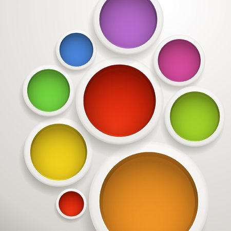 Abstract background of color circles  Template for a text Vector