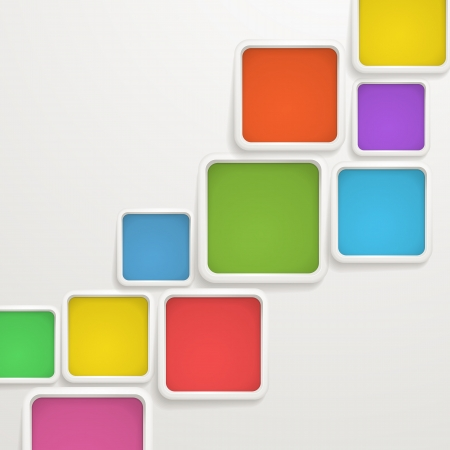 box template: Abstract background of color boxes  Template for a text