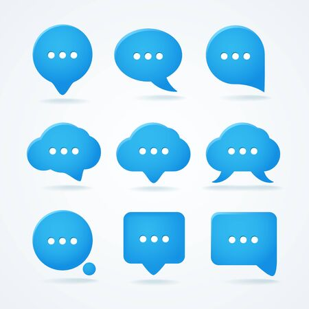 Abstract speech clouds  Ready for a text Stock Vector - 16311428