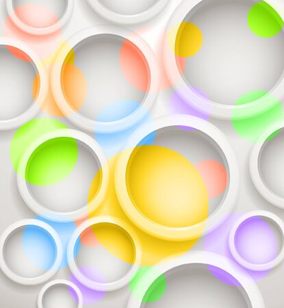 Abstract background of color circles  Template for a text Stock Vector - 16437609